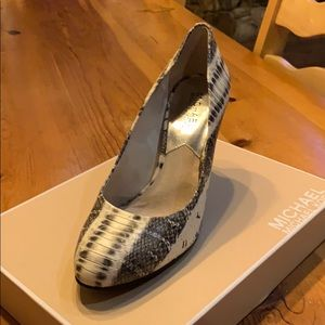 Snake print Michael Kors heels